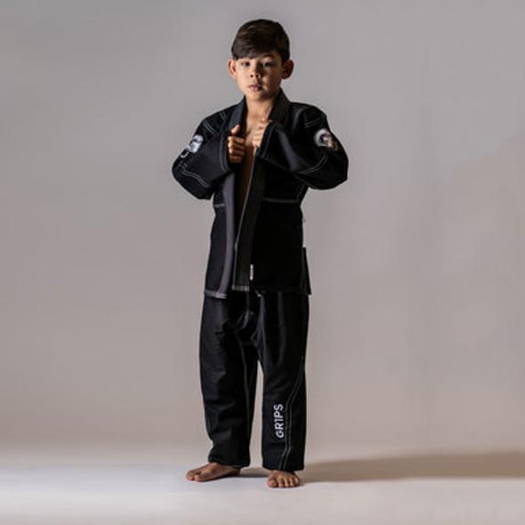 GR1PS Leo Cor Junior BJJ Gi - Black