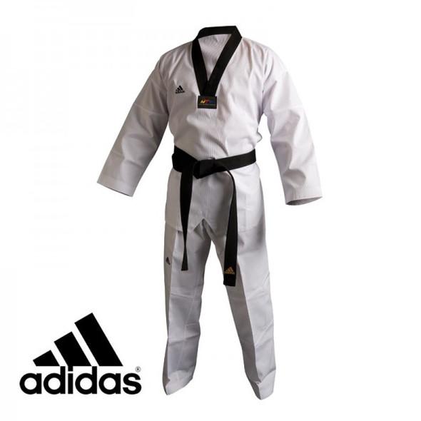 Adidas TKD Dogi - AdiClub Black Collar