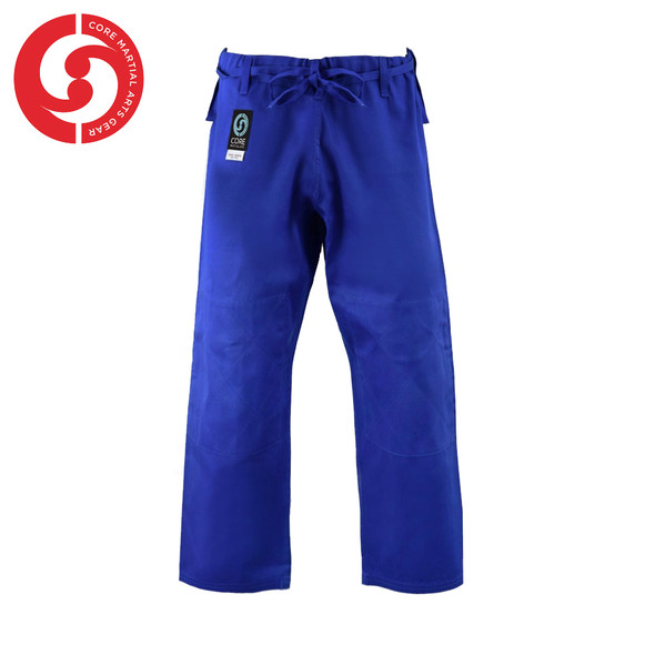 CORE Judo Single Weave Blue Uniform pants padded knees