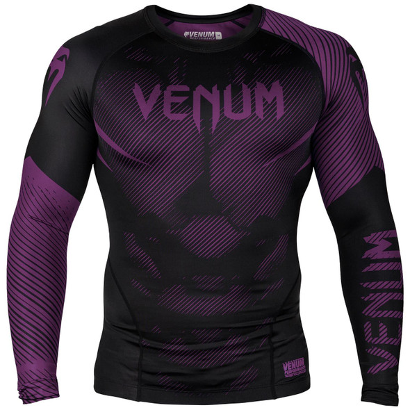 Venum Purple/Black Rash Guard Long Sleeves