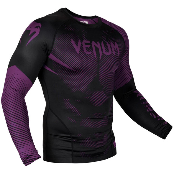 Venum Purple/Black Rash Guard Long Sleeves