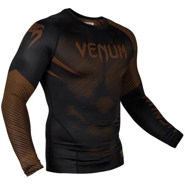 Venum Brown/Black Rash Guard Long Sleeves