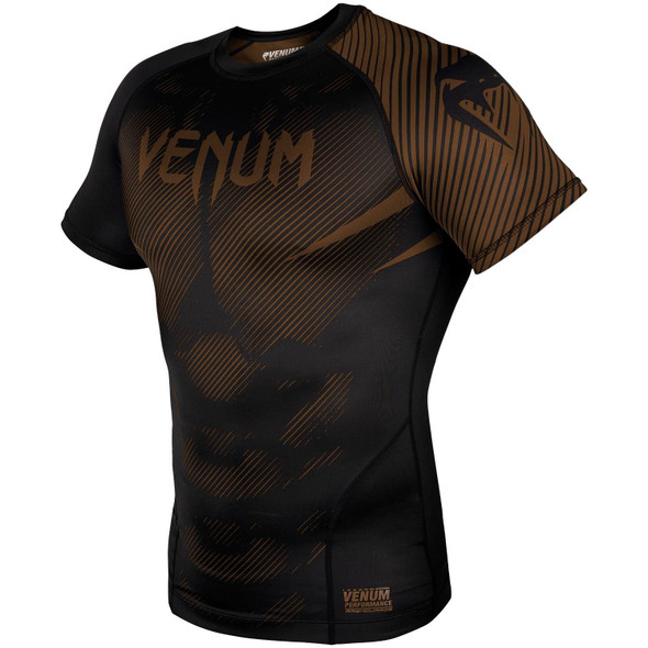 Venum Brown/Black Rash Guard