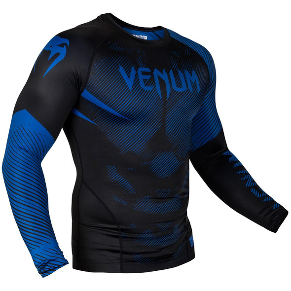 Venum Blue/Black Rash Guard Long Sleeves