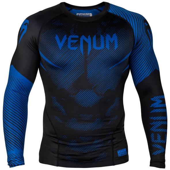 Venum Blue/Black Rash Guard Long Sleeves