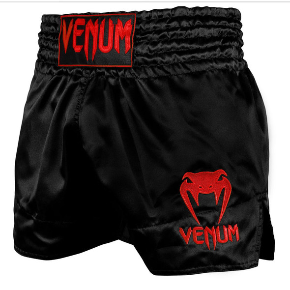 Venum Classic Muay Thai Shorts (Black/Red)