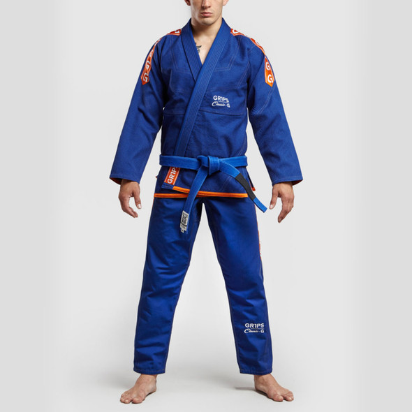 GR1PS BJJ GI Classic-G (Blue/Orange)