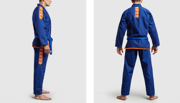 GR1PS BJJ GI Classic-G (Blue/Orange) A3