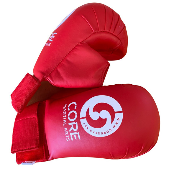 CORE Kumite Mitts w Thumb (Red) Large