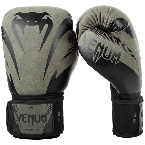 Venum Impact Boxing Gloves (Khaki/Blk) 16oz