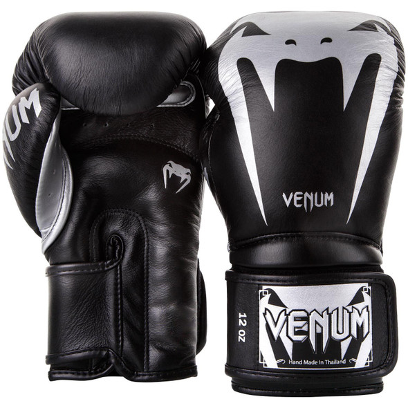 Venum Giant 3.0 Boxing Gloves - Nappa Leather (Blk/Silver)