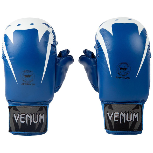 Venum Giant Karate Mitts WKF approved with Thumb (Blue)
