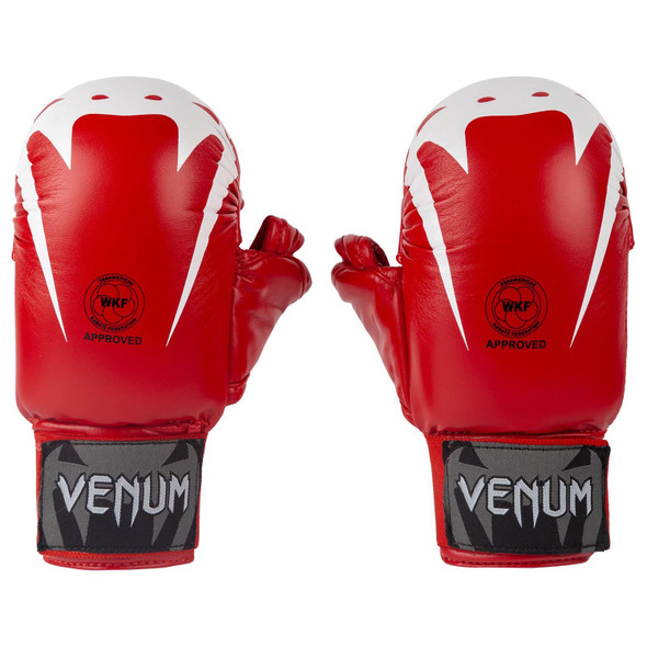 Venum Giant WKF Approved Karate Mitts with Thumb (Red)