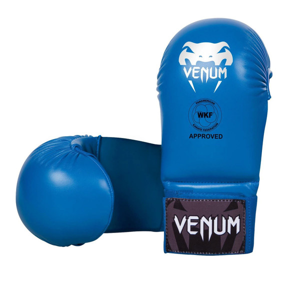 Venum Karate Mitts (Blue)