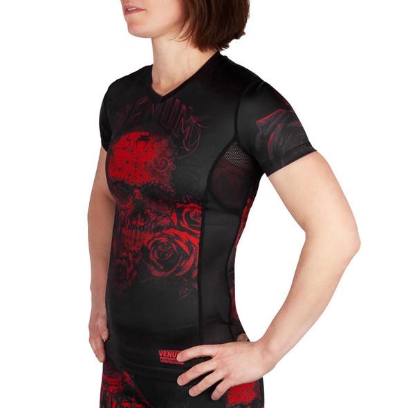 Venum Santa Muerte 3.0 Women's Rashguard (Blk/Red)
