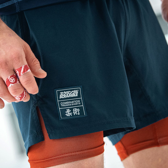 Scramble Combinations Fight Shorts - Navy/Red