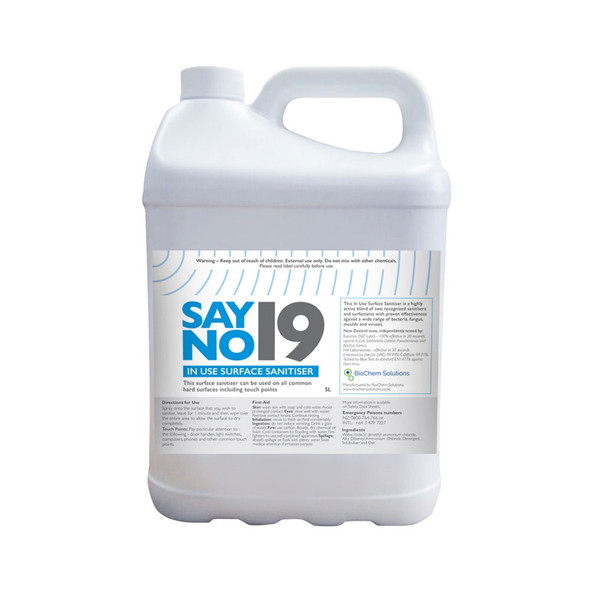 Say No19 Mat Sanitiser (5 litre)