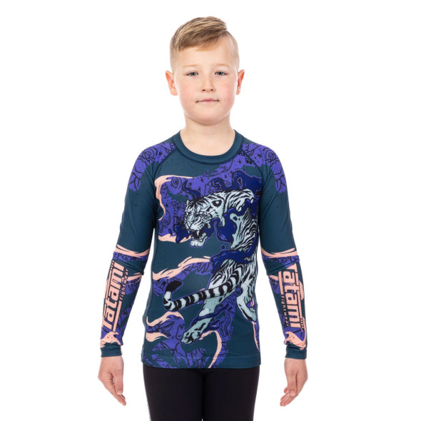 Tatami Kids Moonlight Tiger Eco Tech Recycled Rash Guard