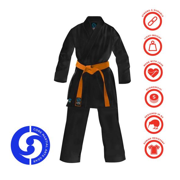 Core Karate Gi Black 8oz
