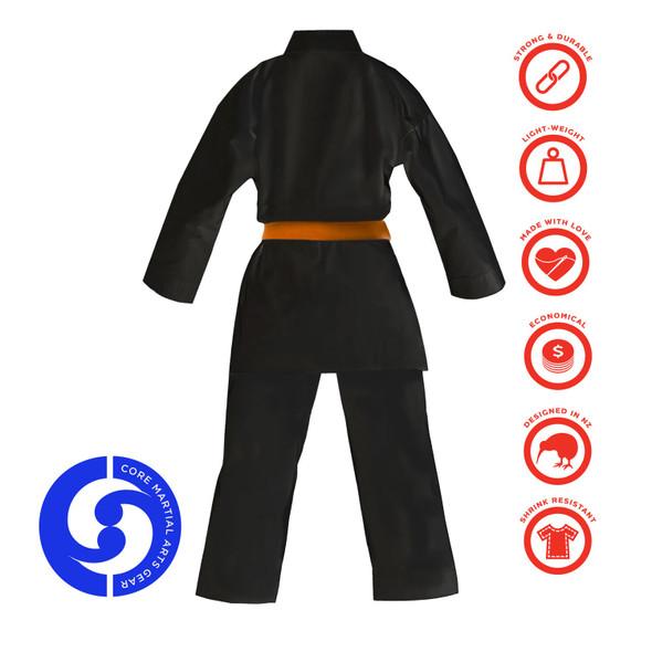 CORE Karate Gi Blue Label 8oz - Black