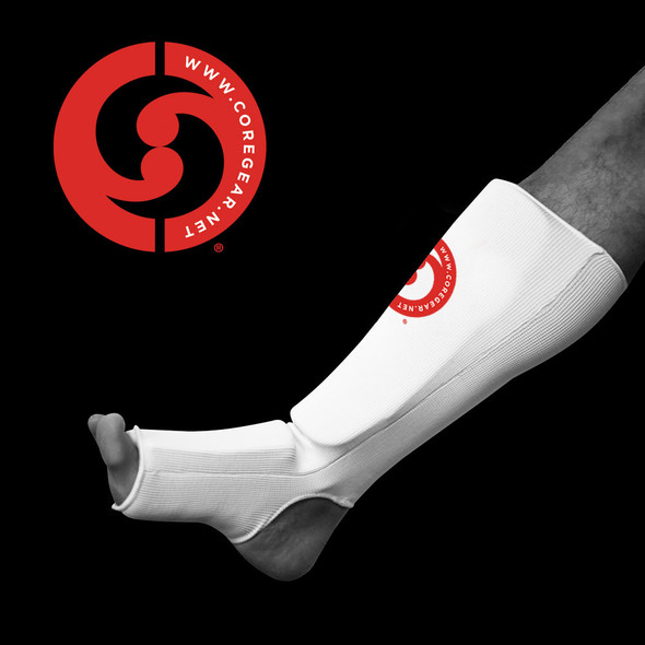 CORE Cotton Shin and Instep Protector - White