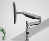 """Techlink Evo Office Articulated Pole Mounted Gas Spring Single Monitor Arm Up To 32"""""""