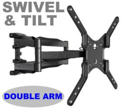 "Double arm. Swivel & tilt . TVs up to 55"". Max VESA 400x400"