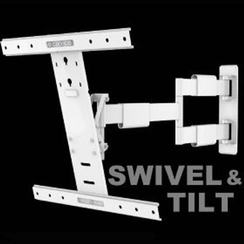 "White swivel & tilt. TVs up to 60"". Max VESA 400x400"