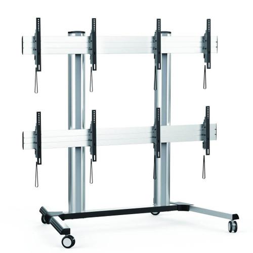 2x2 Video Wall Floor Trolley - AS01446FW