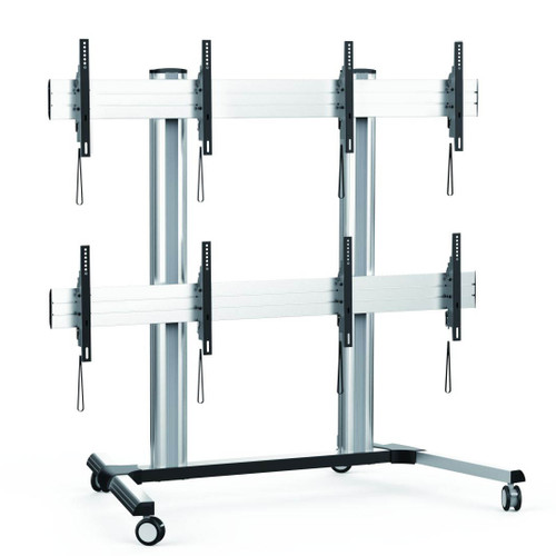 2x2 Video Wall Floor Trolley - AS01446FW
