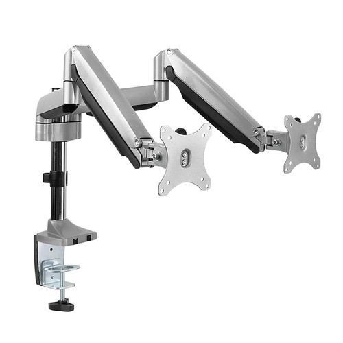 Techlink Evo Office Articulated Pole Mounted Gas Spring Double Monitor Arm Up To 32""