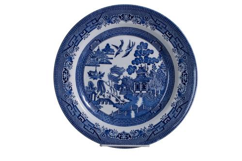 "Churchill Blue Willow Dinner Plate 10 1/4"""