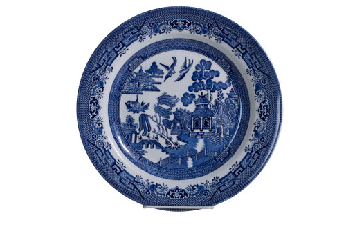Churchill Blue Willow Dinner Plate 10 1/4""