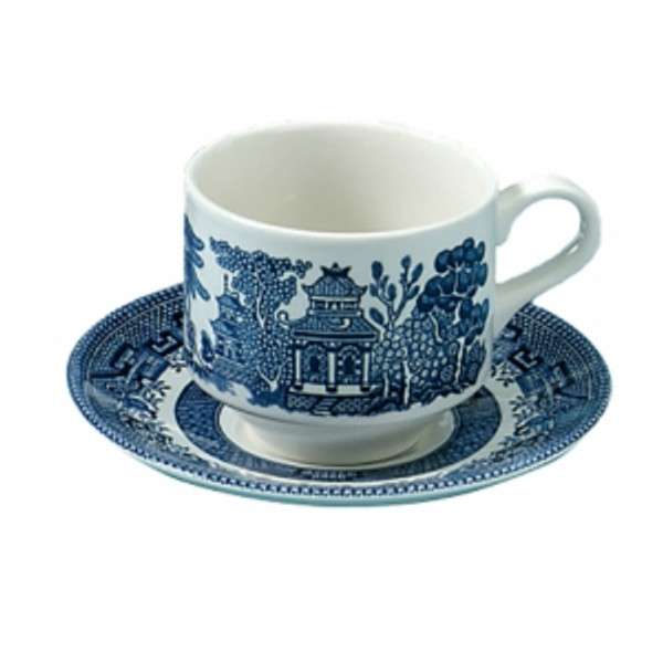 Blue Willow Tea Cup and Saucer