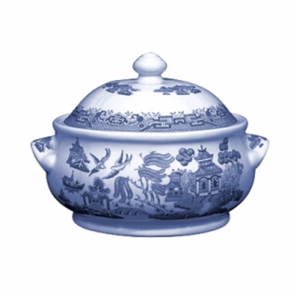 Blue Willow Covered Casserole