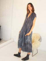 STORM WASH GAUZE MUSCLE PEASANT DRESS