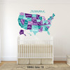 USA Wall Decal Map Vintage Retro www.AmeriDecals.com