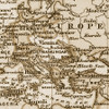 """Vintage 1891 Atlas World Map """"The World"""" Mural printed in your choice of Wall Vinyl Decal or Fabric Wall Decal.  www.ameridecals.com"""