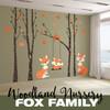 Woodland Nursery Decor - Fox Family in the Forest www.AmeriDecals.com