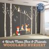 4 Trees Nursery Woodland Friends Wall Decals