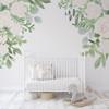 Caroline White Roses Corner Wall Decals Nursery Décor