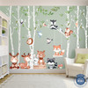 Woodland Décor 6 Trees Nursery Wall Decals Forest CUTE BABY Animals