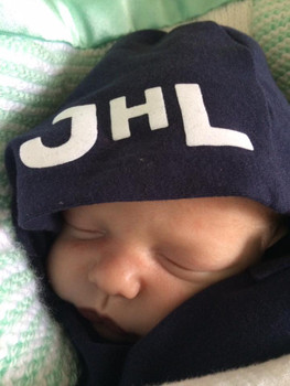 Baby Boys Hooded Gown Newborn Personalized