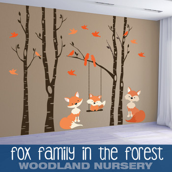 www.ameridecals.com Fox Family in the forest