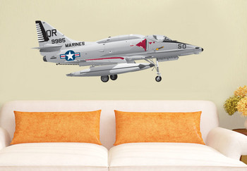 A-4 Skyhawk Marines Decal Fighter Bomber Airplane