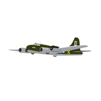 Boeing B17 Flying Fortress AIR FORCE Airplane Wall Decal