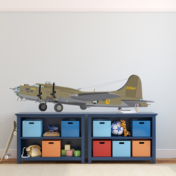 B17 Boeing Flying Fortress AIR FORCE Airplane Wall Decal