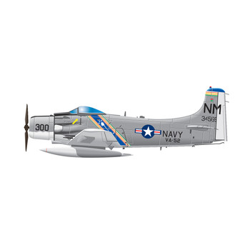 Douglas A-1 Skyrider AIR FORCE Airplane Wall Decal