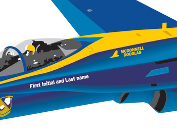 F/A-18 Hornet Blue Angels Marines Decal Airplane