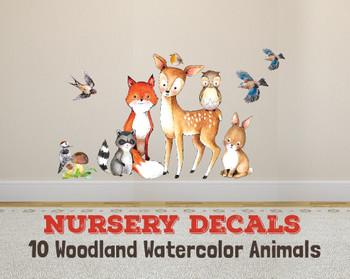 Nursery Woodland Animals Wall Decals Fox & Friends